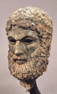 Testa maschile in bronzo c.d. di Basilea, bronzo - Museo Archeologico Nazionale di Reggio Calabria recupero Carabinieri T.P.C.